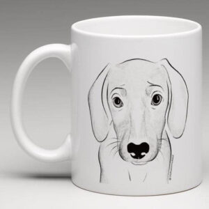 Mug with beagle illustration
