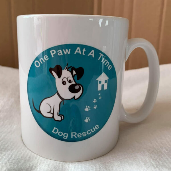 One Paw at a Time Dog Rescue logo mug