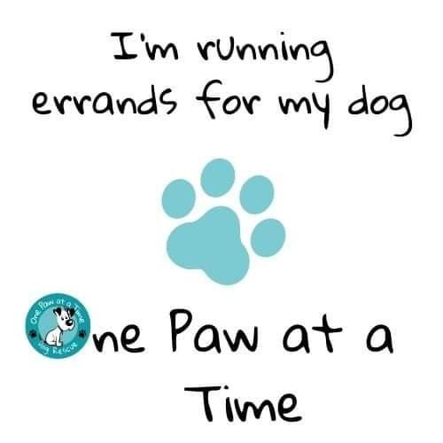 Bag design - 'I'm running errands for my dog'