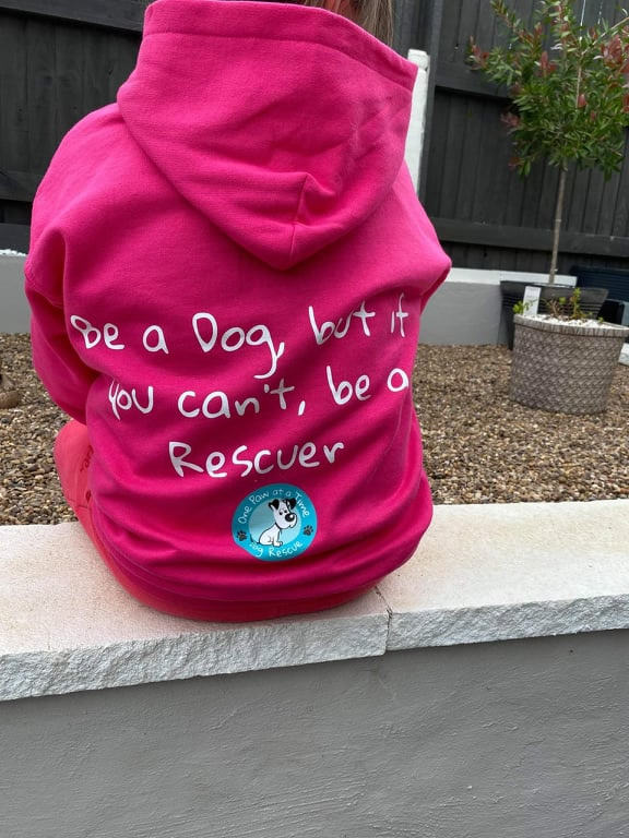 Kids hoodie back view